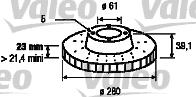 Disque de frein - VALEO - 186734