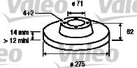 Disque de frein - VALEO - 186736