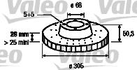 Disque de frein - VALEO - 186741
