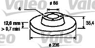 Disque de frein - VALEO - 186742