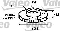 Disque de frein - VALEO - 186743