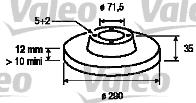 Disque de frein - VALEO - 186747