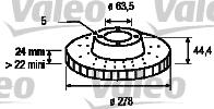 Disque de frein - VALEO - 186748