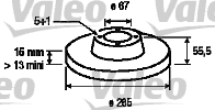 Disque de frein - VALEO - 186753