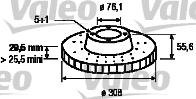Disque de frein - VALEO - 186756