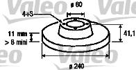 Disque de frein - VALEO - 186757