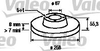 Disque de frein - VALEO - 186760