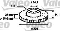 Disque de frein - VALEO - 186762