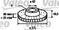 Disque de frein - VALEO - 186765