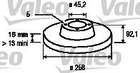 Disque de frein - VALEO - 186770