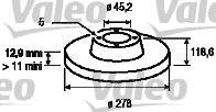 Disque de frein - VALEO - 186771
