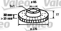 Disque de frein - VALEO - 186774