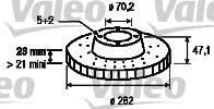 Disque de frein - VALEO - 186778