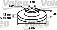 Disque de frein - VALEO - 186784