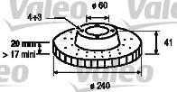Disque de frein - VALEO - 186790