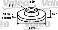 Disque de frein - VALEO - 186797