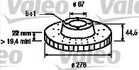 Disque de frein - VALEO - 186799