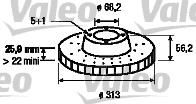 Disque de frein - VALEO - 186800