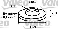 Disque de frein - VALEO - 186801