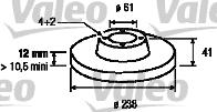 Disque de frein - VALEO - 186803