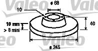 Disque de frein - VALEO - 186807