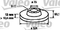 Disque de frein - VALEO - 186809