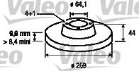 Disque de frein - VALEO - 186812