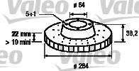 Disque de frein - VALEO - 186814