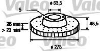 Disque de frein - VALEO - 186819