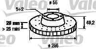 Disque de frein - VALEO - 186822