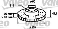 Disque de frein - VALEO - 186827