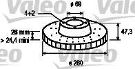 Disque de frein - VALEO - 186829