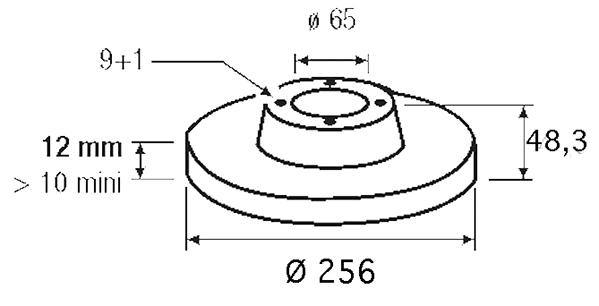 Disque de frein - VALEO - 186833