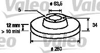 Disque de frein - VALEO - 186834