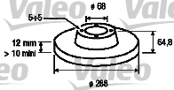 Disque de frein - VALEO - 186841