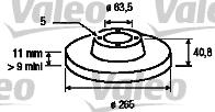 Disque de frein - VALEO - 186842