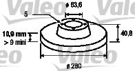 Disque de frein - VALEO - 186843