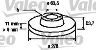Disque de frein - VALEO - 186844