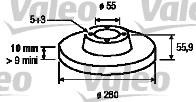 Disque de frein - VALEO - 186849