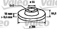 Disque de frein - VALEO - 186850