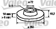 Disque de frein - VALEO - 186851