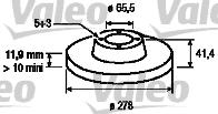 Disque de frein - VALEO - 186854