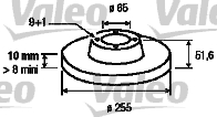Disque de frein - VALEO - 186857