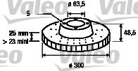 Disque de frein - VALEO - 186863