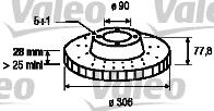 Disque de frein - VALEO - 186868