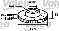 Disque de frein - VALEO - 186871