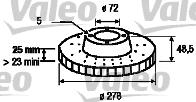 Disque de frein - VALEO - 186872