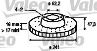Disque de frein - VALEO - 186879