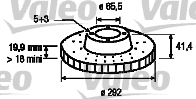 Disque de frein - VALEO - 186882