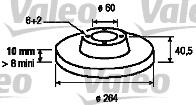 Disque de frein - VALEO - 197008